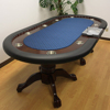 96 Inch Luxury poker table with 9 stainless steel cup holders and metal chip tray