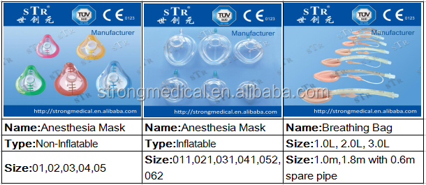 STR- Medical disposable anesthsia mask with CE