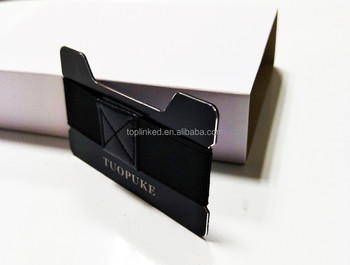 RFID/NFC Aluminum Material Credit Card Holder Slim Wallet with Rubber Band Can Be Customized Logo/Package