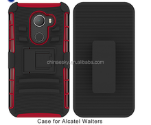 Holster combo case stand robot 3 in 1 mobile phone case for Alcatel Walters