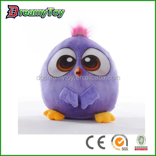 love birds stuffed plush bird toys Cartoon Movie Soft Doll Angry Plush Toys