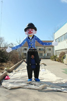 customized new design mobilizable giant inflatable clown costume for advertising
