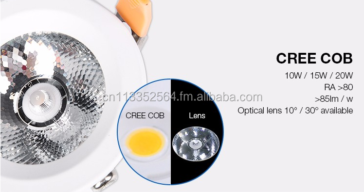 CE UL TUV 10w 15w 20w outdoor waterproof IP65 led cob downlight