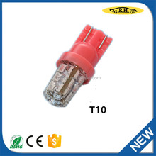 ZGRHGD T10 led bulb for auto accessory led umber light lamp with top quality silica gel
