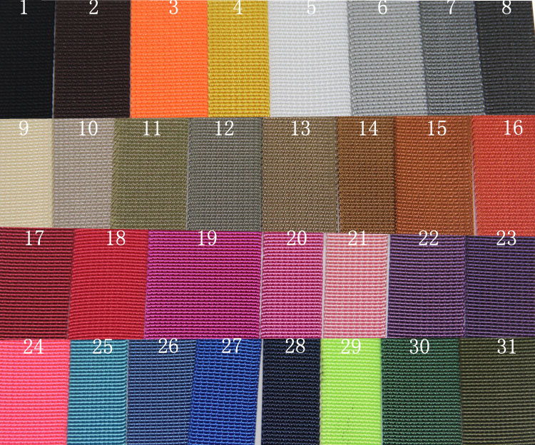 Wholesale 32mm nylon custom  webbing for garment