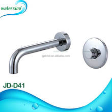 JD-D41 Good bargin brass wall mounted water saving push button self closing basin tap