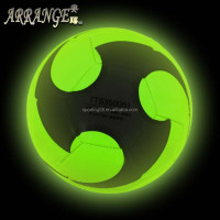luminous noctilucent fluorescent JFFB125 green leather flashing christmas gift 2016 ball football
