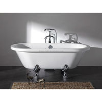 High-Grade New Style European Standard Acrylic Big Bathtub For Sale