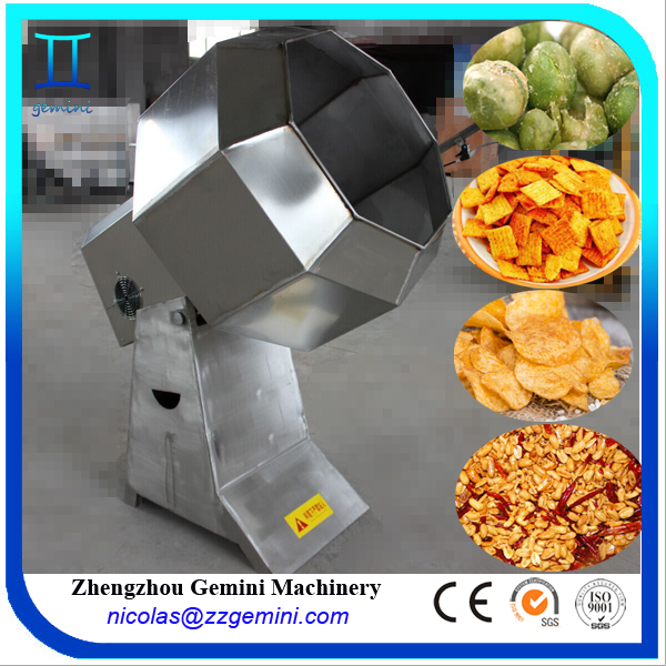 Industrial food grade stainless steel potato chips flavor powder snack seasoning machine