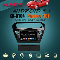 great Bluetooth excellent sound and works well android 5.1.1 car audio system for Peugeot 301