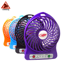 Newest model for 2017 rechargeable led light table fan with 18650 power mobile charger
