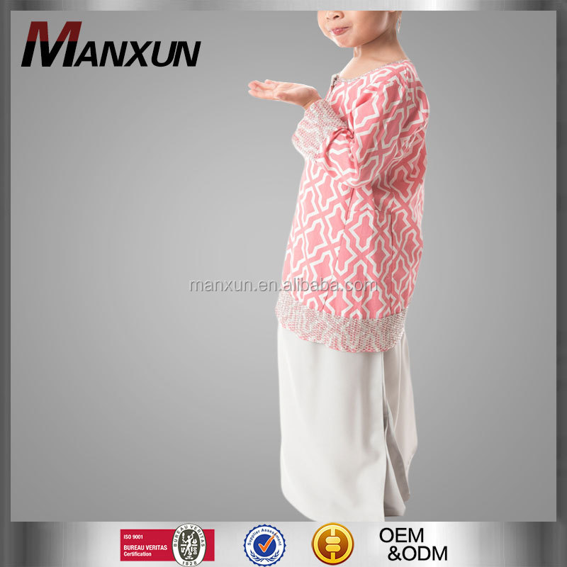 New Model Islamic Children Clothing Girls Baju Kurung And Baju Kebaya For Children
