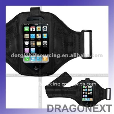 High Quality Black Sport Skin Case Armband For Apple Iphone 3G 4G