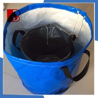 vegetable plastic garden plant bags, garden waste bag holders made with pe or pvc tarpaulin