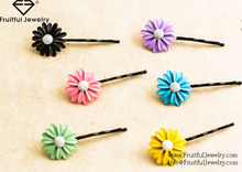 The new alloy colourful daisy hairpin sweet flower hair ornaments Hair Accessories Hair Clips