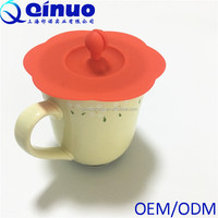 FDA standard Multi-design & color silicone coffee mug cup lids Silicone Cup cover