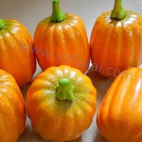 2015 artificial pumpkin for halloween cheap wholesale fake vegetables and fruits toys