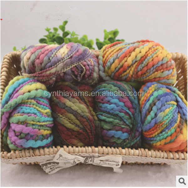 Fancy Slub Yarn Wool Yarn Sweater Yarn For Scarf Knitting