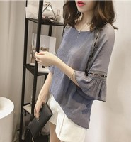 or20275h new style shirts women three quarter sleeve lady blouse sweet tops