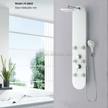 Glass shower panel G642 with plastic top shower