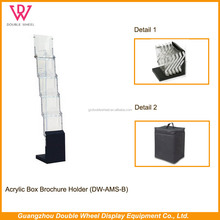 new design clear acrylic brochure holder standee, A4 acrylic brochure holder stand rack book stand