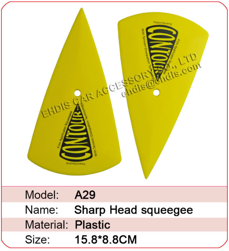 High temperature resistance plastic squeegee tool special for car wrap film scraper tool