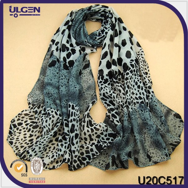 Scarf fleece/animal print scarf/leopard print