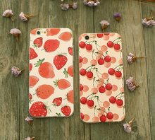 Fruit Pear Lemon Strawberry Fashion Soft Silicon Thin Case Cover for Apple iPhone SE 6 6S 6Plus 6sPlus