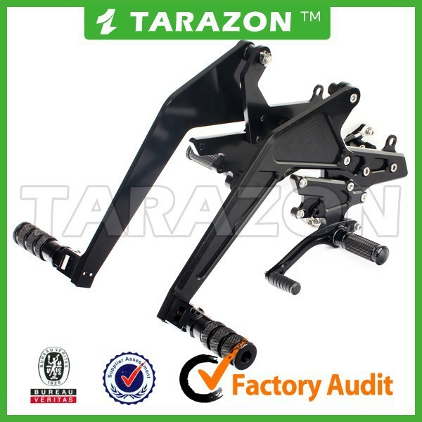 hot sale lightweight Rear Sets CNC milled motorcycle Foot Controls Pedal for ER6N ER-6N