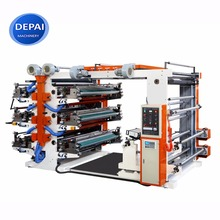 DEPAI 6 colors non woven bag plastic bag flexo print flexographic printing machine