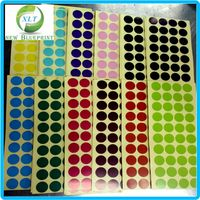 Custom Different Colors Round Dots Paper Stickers for Distinguish or Recognition Electronic Components Use or Any Mark Stickers