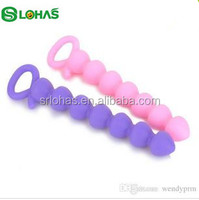 Wholesale Mini Sex Doll Silicone Horse Tail Anal Plug Beads