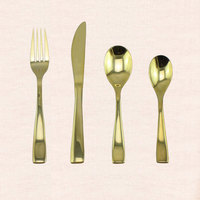 High Quality Gold Plating Stainless Steel Cutlery set /Gold Flatware