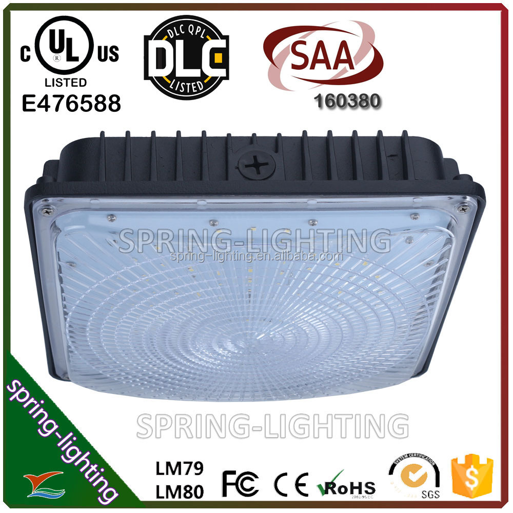 SAA approved gas station led canopy light 50w led low bay light fixture led outdoor