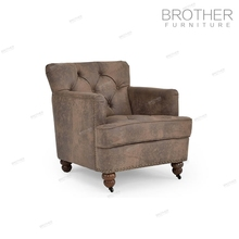 Antique sofa living room furniture upholstered tufted solid wood sofa for sale