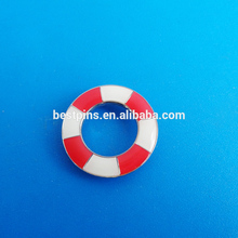 Factory wholesale cork hoop coat brooch life buoy custom metal lapel pin