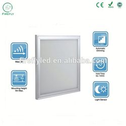 UL certificate Square motion sensor aluminum led ceiling panel light frame 5 years warranty