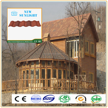 Standard size color stone coated metal roof tile with low cost