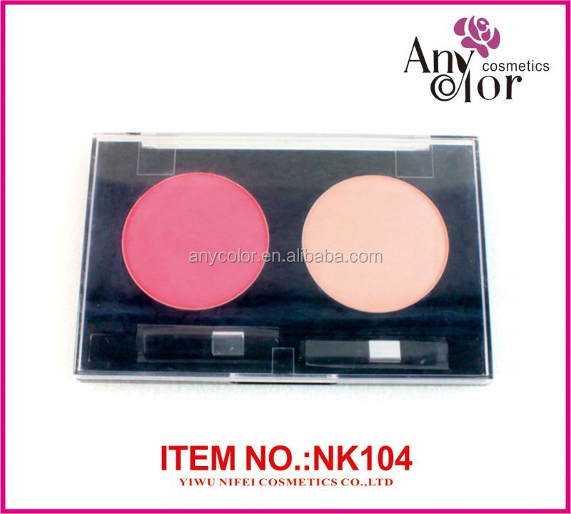 Single color blush and compact powder cosmatic palette