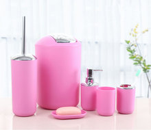 Hot-Selling Pink Bathroom Accessories Set for home and hotel use