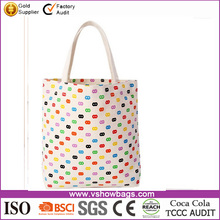 New design Candy colors cute tote shopping bag printing