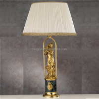 European brass table lamp for hotel