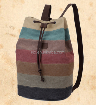Fashion Waxed Canvas Backpack Drawstring Wholesale