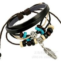 latest design high quality leather bracelet for men