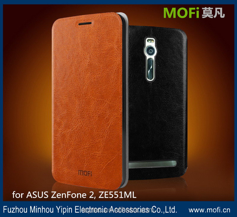 MOFi Case Celular PU Leather Flip Cover for ASUS ZenFone 2 ZE551ML, Mobile Phone Coque Back Housing for ZenFone2
