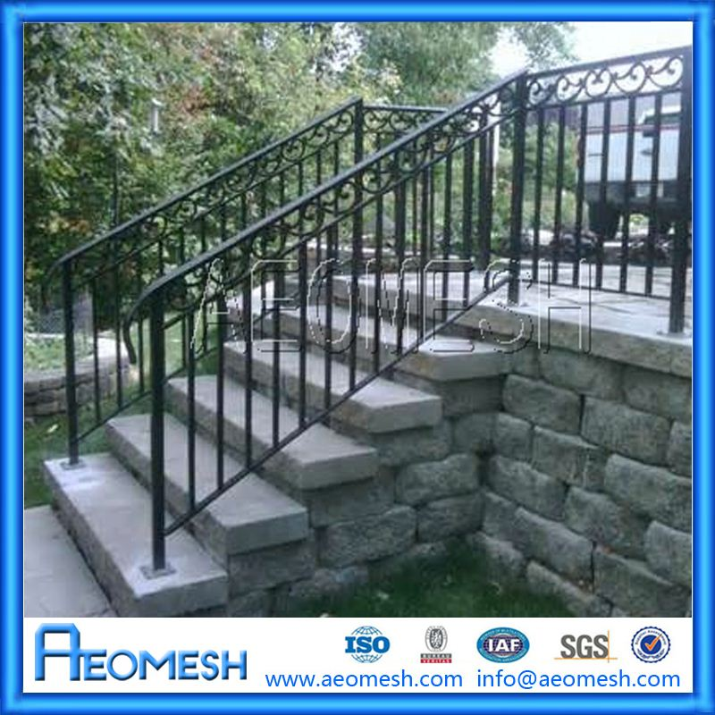 commercial style metal balusters balcony stainless steel railing design