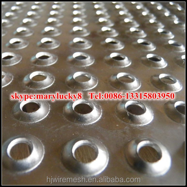 extruded hole perforated metal sheet/dimpled hole perforated sheet
