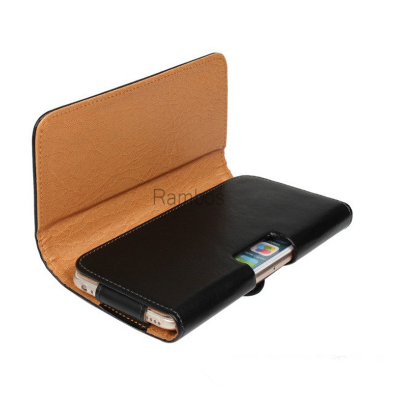 PU Leather Belt Clip Holster Hook Mobile Phone Case Cover Pouch for Samsung Galaxy S6 / S6 Edge