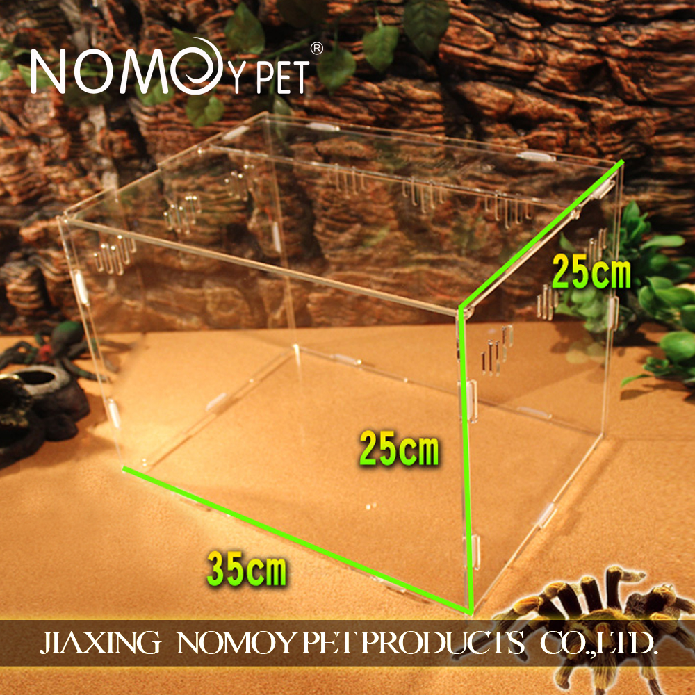 Nomo hot selling acrylic reptile display for reptile cage supplies