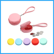 Soft silicone coin purse with handle and zipper